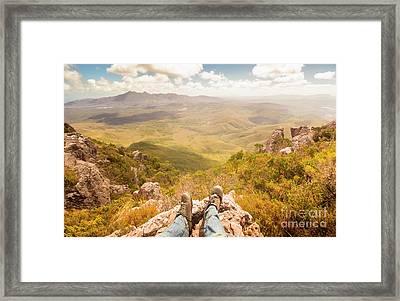 Mountain Valley Landscape Framed Print
