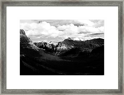 Mountain Valley Landscape Framed Print