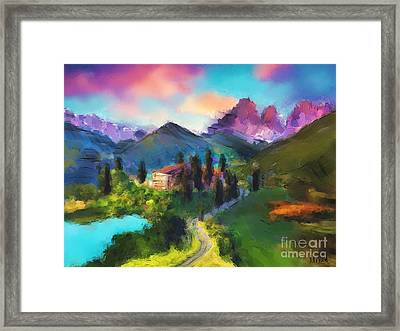Mountain Valley Framed Print by Melanie D