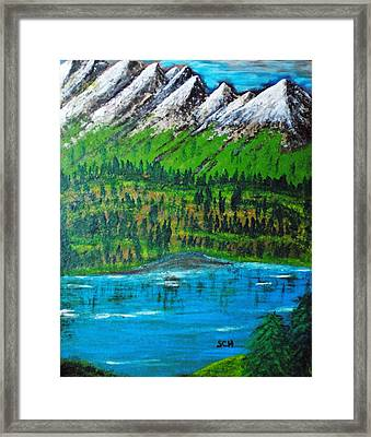 Mountain Valley Paradise Number Five Framed Print