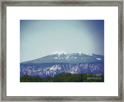 Mountain View Framed Print by Debbie Wells