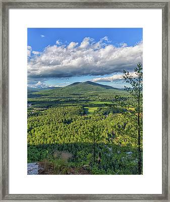 Mountain View From Cathedral Ledge Framed Print by Brian MacLean