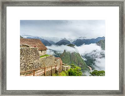 Framed Print featuring the photograph Mountain View. by Gary Gillette