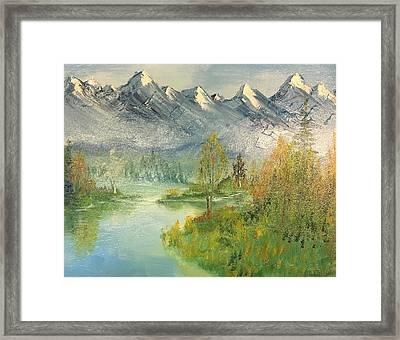 Mountain View Glen Framed Print
