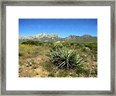 Mountain View Las Cruces Framed Print by Kurt Van Wagner