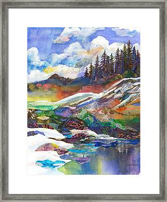 Mountain View Framed Print by Marty Husted