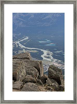 Framed Print featuring the photograph Mountain View by Mary Mikawoz