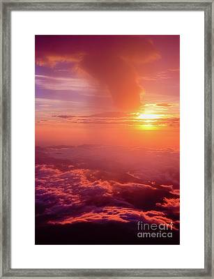 Framed Print featuring the photograph Mountain View by Tatsuya Atarashi