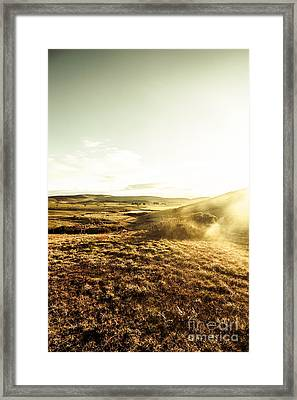 Mountain Views And Misty Sunlight Framed Print
