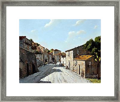 Mountain Village Main Street Framed Print