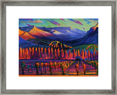 Mountain Vineyards, Chelan, Wa, Usa Framed Print