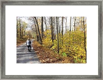Mountain Walk Framed Print