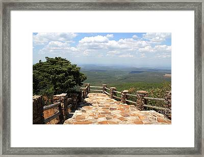 Mountain Walkway Framed Print