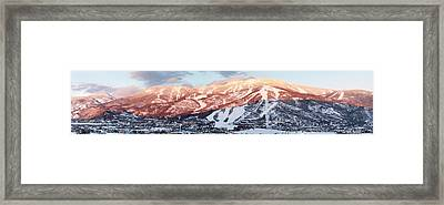 Framed Print featuring the photograph Mountain Werner  by Daniel Hebard