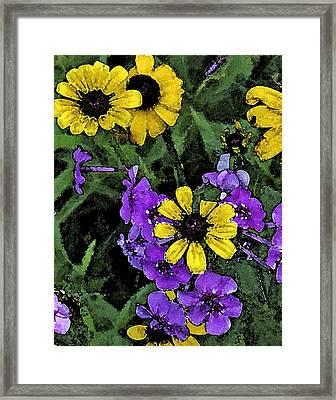 Mountain Wildflowers Framed Print by Debra Wilkinson