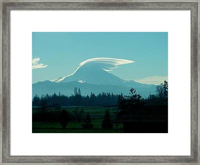 Mountain Wings Framed Print