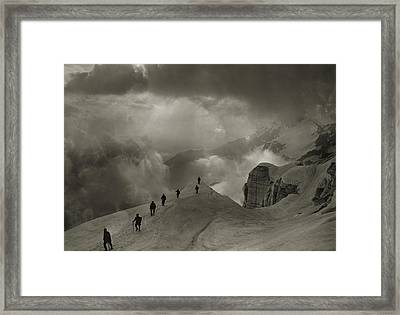 Mountaineers On Campo Tencia Framed Print