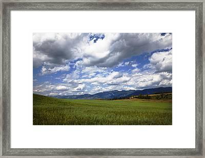 Mountainfarm Framed Print by Mark Smith