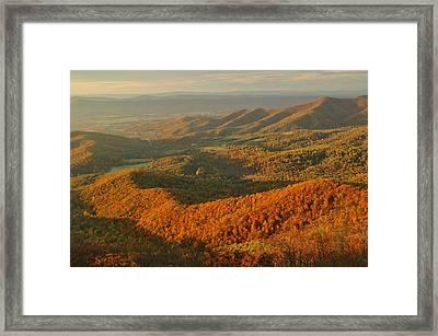 Mountainous Sunset Landscape Framed Print