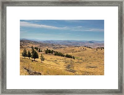 Mountainous Terrain In Central Oregon Framed Print