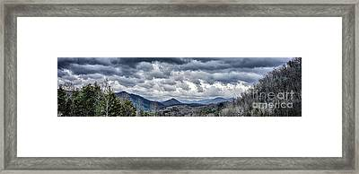 Framed Print featuring the photograph Mountains 1 by Walt Foegelle