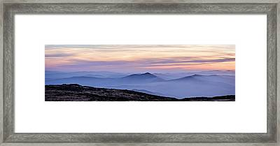 Mountains And Mist Framed Print by Marion McCristall