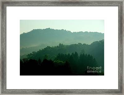 Mountains And Mist Framed Print by Thomas R Fletcher