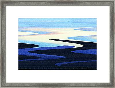 Mountains And Sky Abstract Framed Print