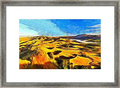 Mountains And Valley - Da Framed Print