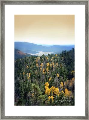 Framed Print featuring the photograph Mountains And Valley by Jill Battaglia