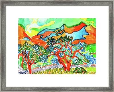 Mountains At Collioure Framed Print