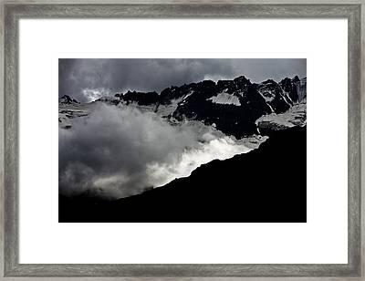 Mountains Clouds 9950 Framed Print