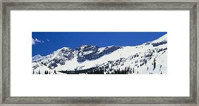 Mountains Covered With Snow, Little Framed Print