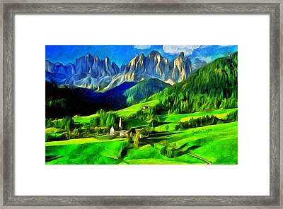 Mountains - Da Framed Print