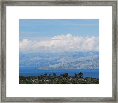Mountains Far Away  3 Framed Print by George Katechis