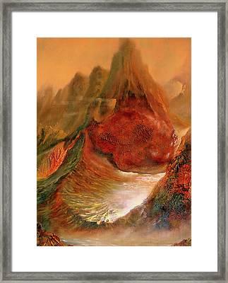 Mountains Fire Framed Print