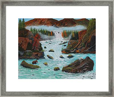 Mountains High Framed Print by Myrna Walsh
