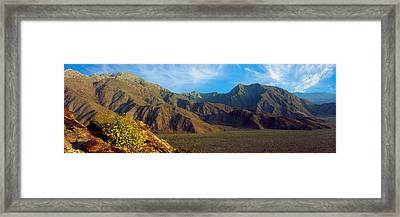 Mountains In Anza Borrego Desert State Framed Print by Panoramic Images