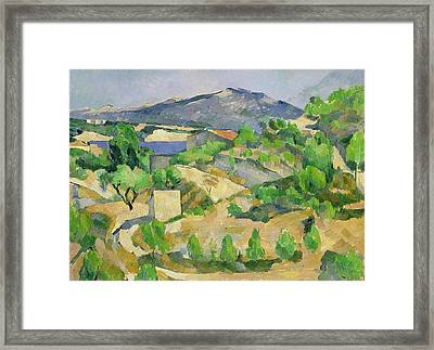 Mountains In Provence Framed Print by Paul Cezanne