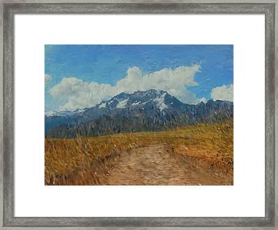 Mountains In Puru Framed Print by David Lane