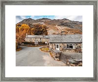 Mountains In The Back Yard Framed Print