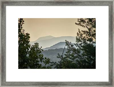 Framed Print featuring the photograph Mountains In The Distance by Willard Killough III