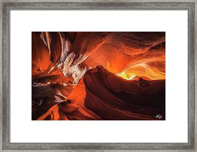 Mountains In The Earth Framed Print by Peter Coskun