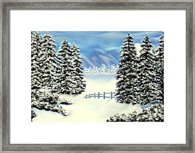 Mountains In The Winter Framed Print