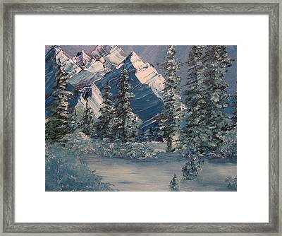 Mountains In Winter Framed Print
