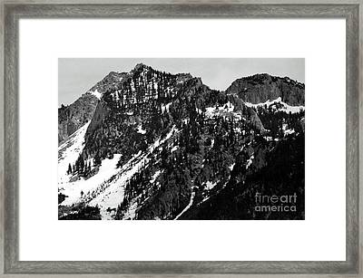 Mountains Framed Print by Juls Adams