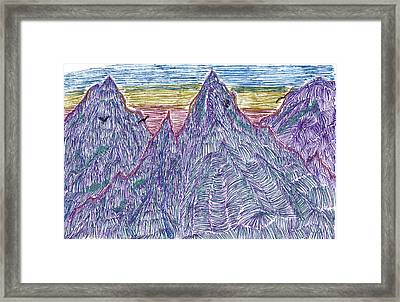 Mountains Framed Print by Lynnette Jones