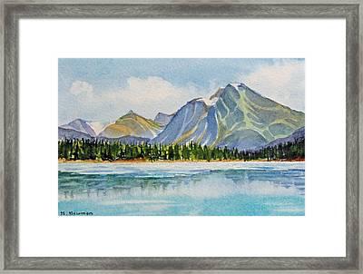 Mountains-near-jasper Framed Print by Nancy Newman