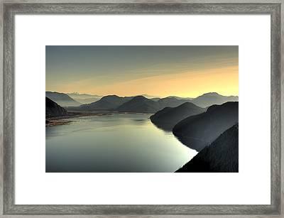 Mountains Of Beautiful British Columbia Framed Print