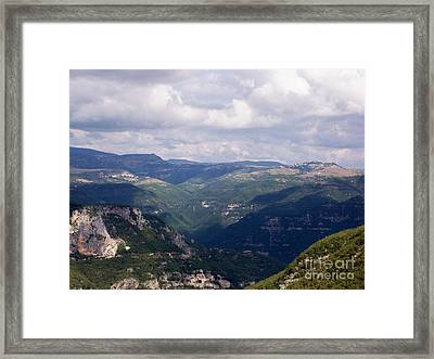 Mountains Of Central Italy Framed Print by Judy Kirouac